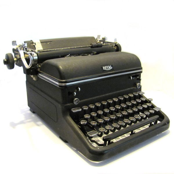 Vintage 1940s Royal Typewriter Magic Margin Touch Control Glass Keys (€120) ❤ liked on Polyvore featuring home, home decor, decor, vintage home accessories, vintage home decor and glass home decor
