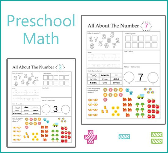 Preschool Math - All About Numbers | Preschool math ...