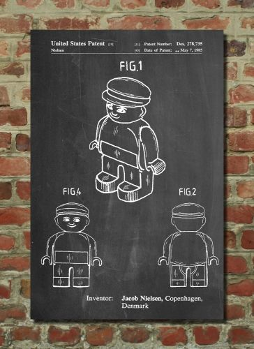 Lego Guy Poster Lego Guy Patent Lego Guy Print Lego Guy Art Lego Guy - copy plane blueprint wall art