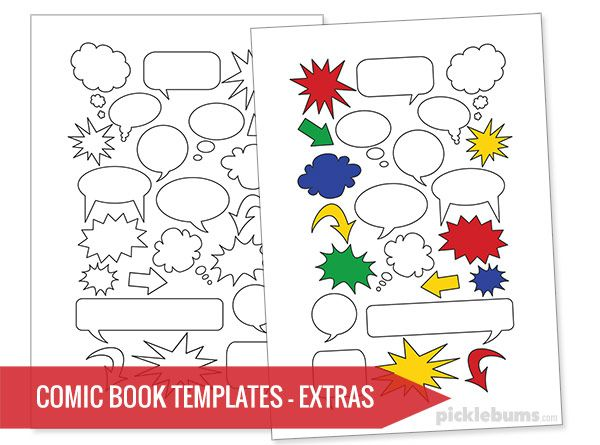 Free Printable Comic Book Templates  Free Printable Template And