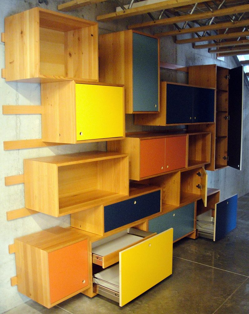 custom Spear Wall from Eastvold Furniture. via Design Milk | studio ...