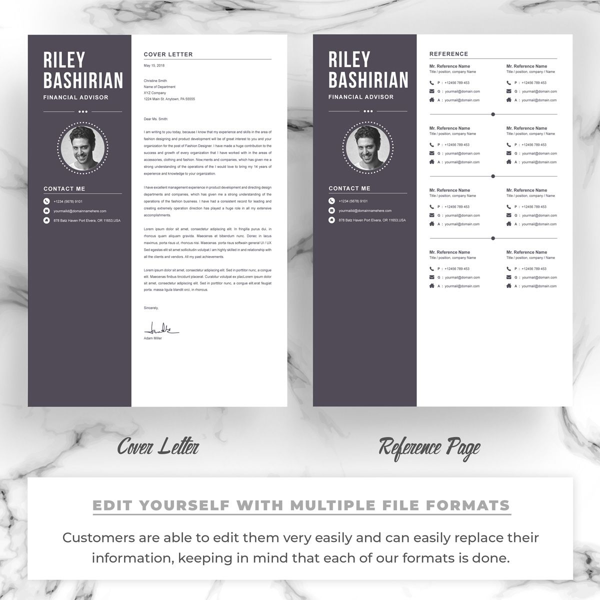 riley resume template  82490