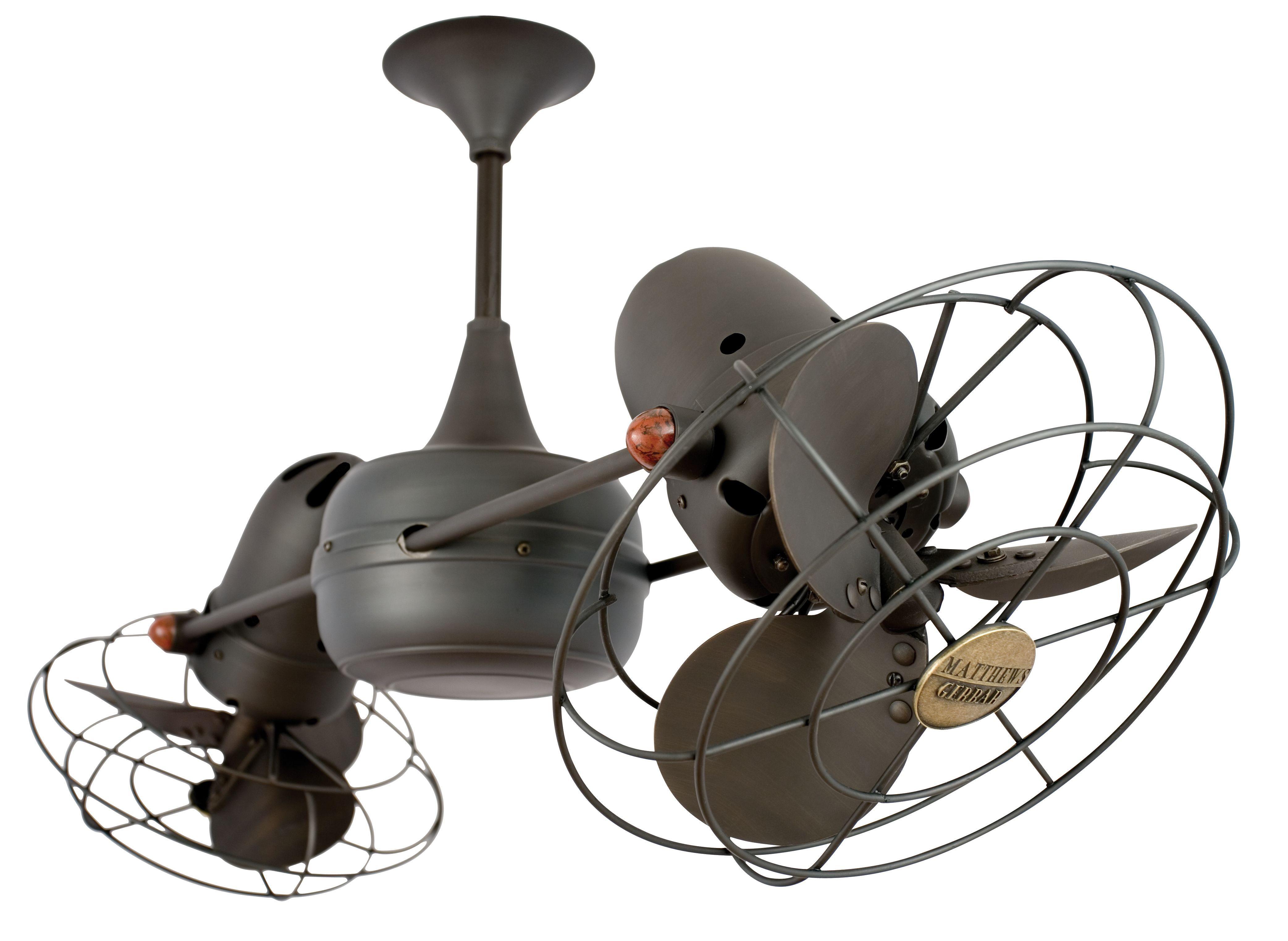 Matthews Duplo Dinamico Ceiling Fan 36 Bronze Euro Style Lighting Ceiling Fan Outdoor Ceiling Fans Dual Ceiling Fan