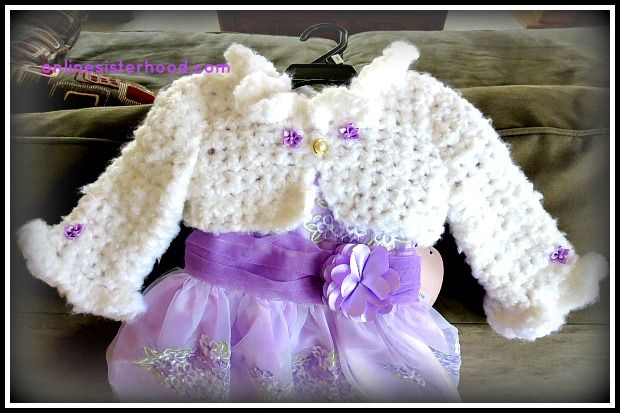 Crocheted Shrug (and dress) for Easter {great tutorial} by Online Sisterhood