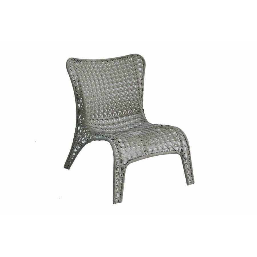 Peachy Shop Garden Treasures Tucker Bend Gray Woven Seat Steel Machost Co Dining Chair Design Ideas Machostcouk
