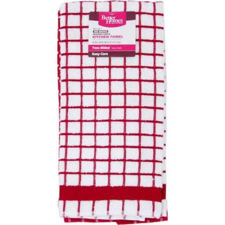 Better Homes And Gardens Check Window Pane Kitchen Towel 2 Pack