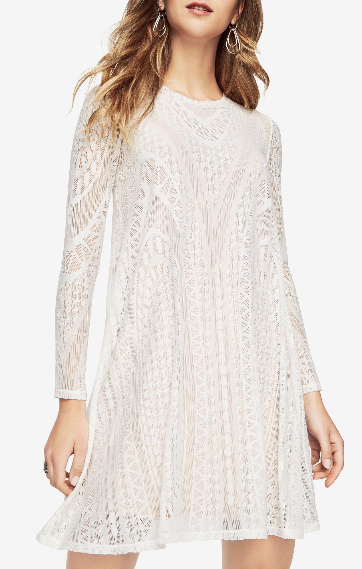 1f52a63fd0 Natyly Geometric Lace Dress