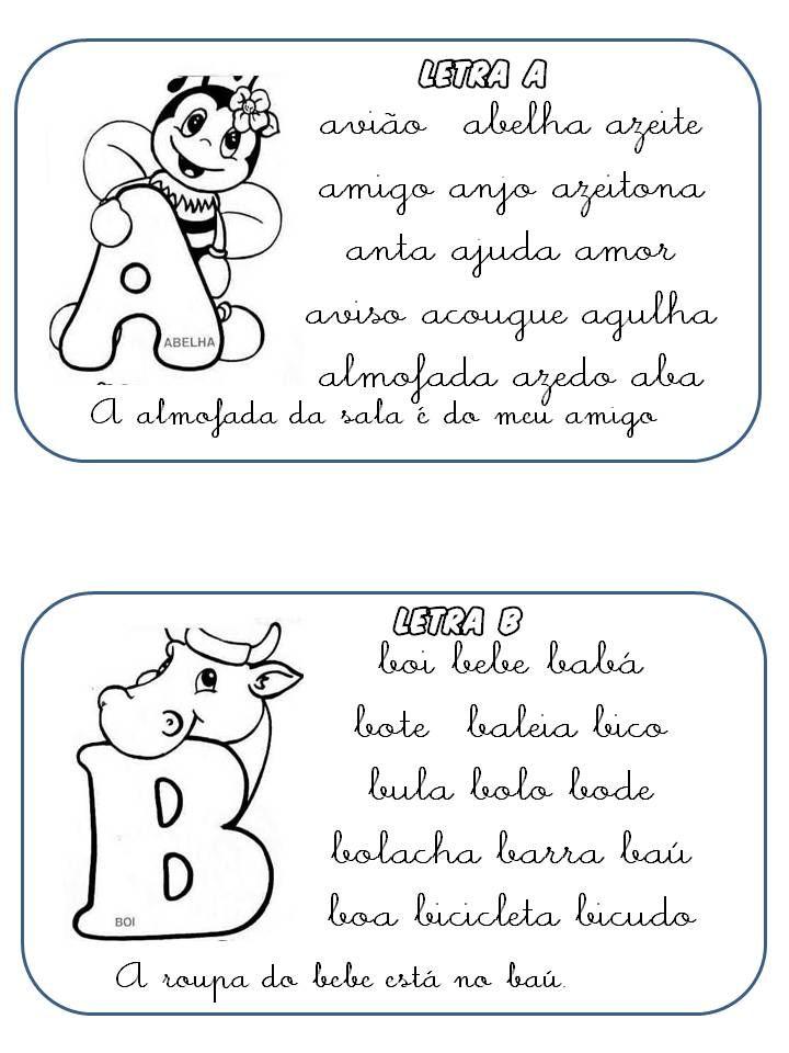 Fichas De Leitura Com Letras Cursivas 1 Atividades Com Letra
