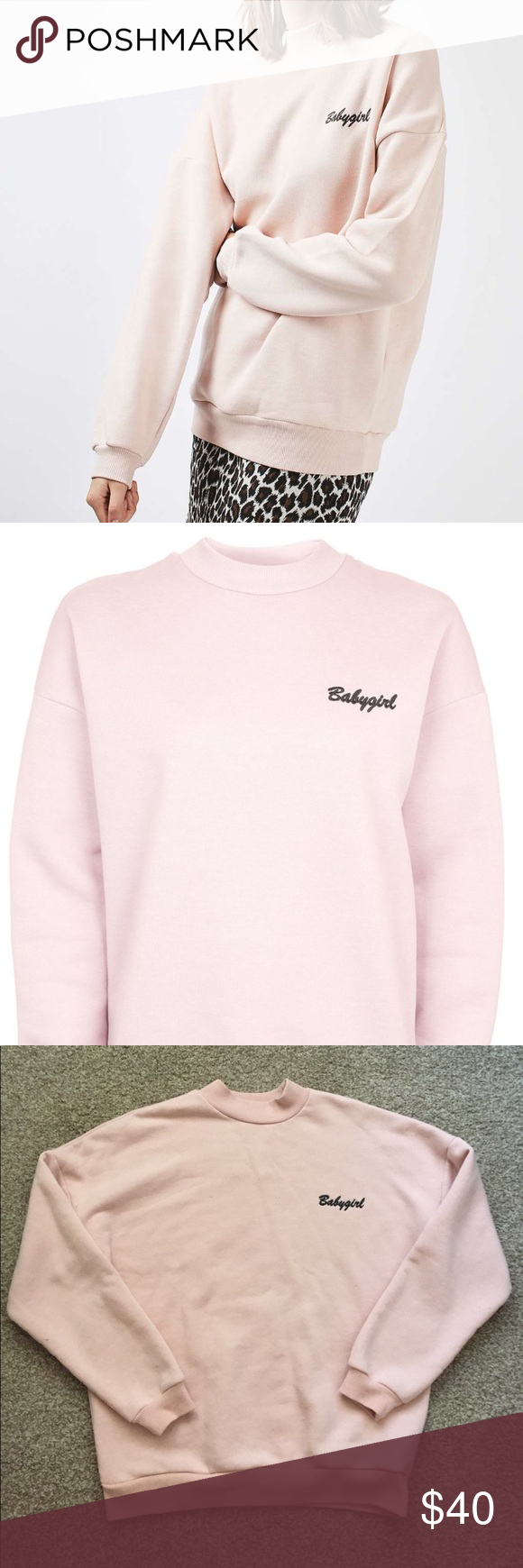 a55106b8eb0 TOPSHOP Babygirl High Neck Sweatshirt TOPSHOP Babygirl High Neck Sweatshirt  by Tee   Cake. Worn once in perfect condition. Super comfy