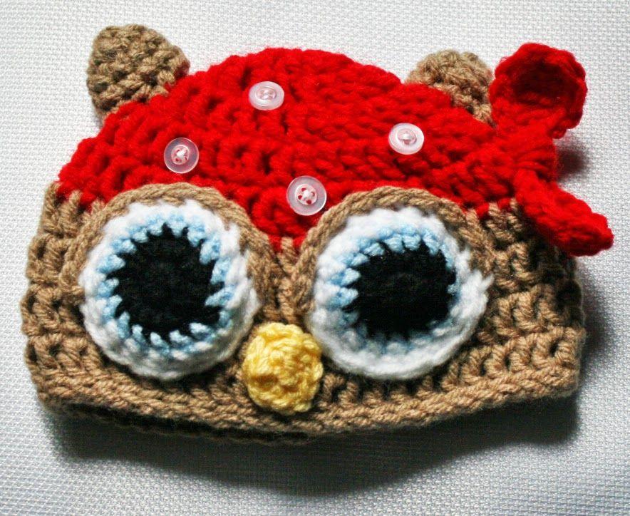 Pirate owl hat   tejidos   Pinterest