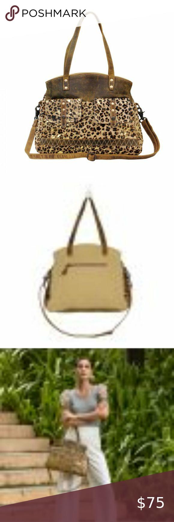 Myra Bag 252564 Nwt In 2020 Bags Shoulder Bag Leather Joblot bundle animal leopard print bags. pinterest