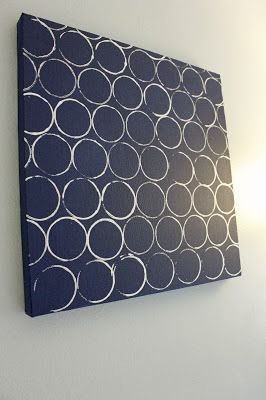 Canvas paint and a toilet paper roll instant wall art for Canvas roll for painting