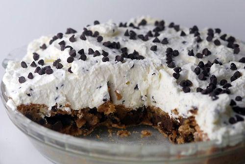 chocolate chip cloud pie