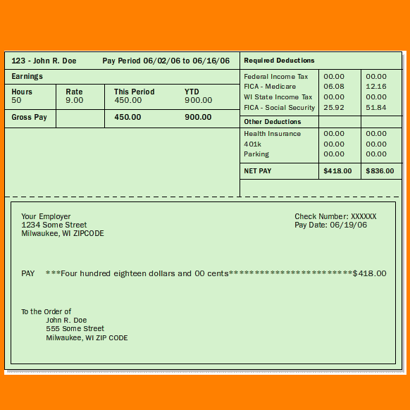 Free Pay Stub Template Word Imagen Sampleresume