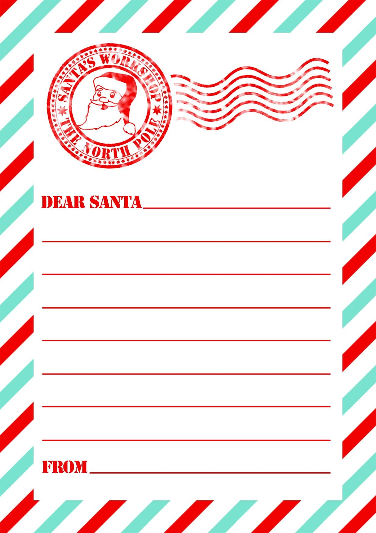 Letter Template From Santa Free  Google Search  Template