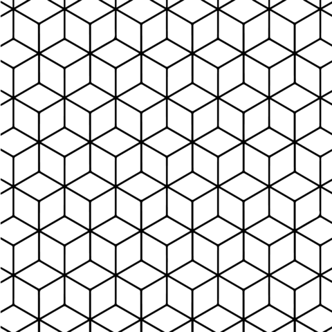 Geometric Tessellation with Rhombus Pattern Coloring page ...