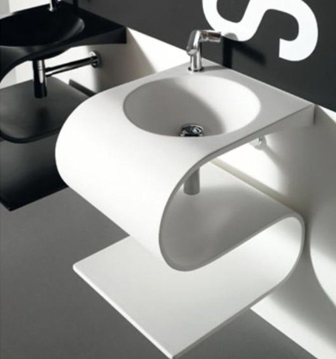 Estetik  Bath  Baño  Pinterest  Futuristic Furniture Bathroom Best Designer Bathroom Sink Decorating Inspiration