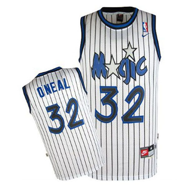 9951d797fdb Orlando Magic #32 Shaquille O'Neal White Basketball Jersey ...