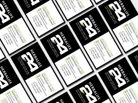 Herbalife Business Card Digital Template by WackyJacquisDesigns ...