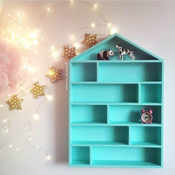 House Shaped Shelf Wooden House Shelf Kids Shelf House Etsy House Shelves Kids Shelves Shelves