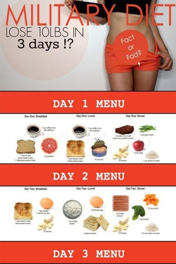 10 pound diet in 3 days