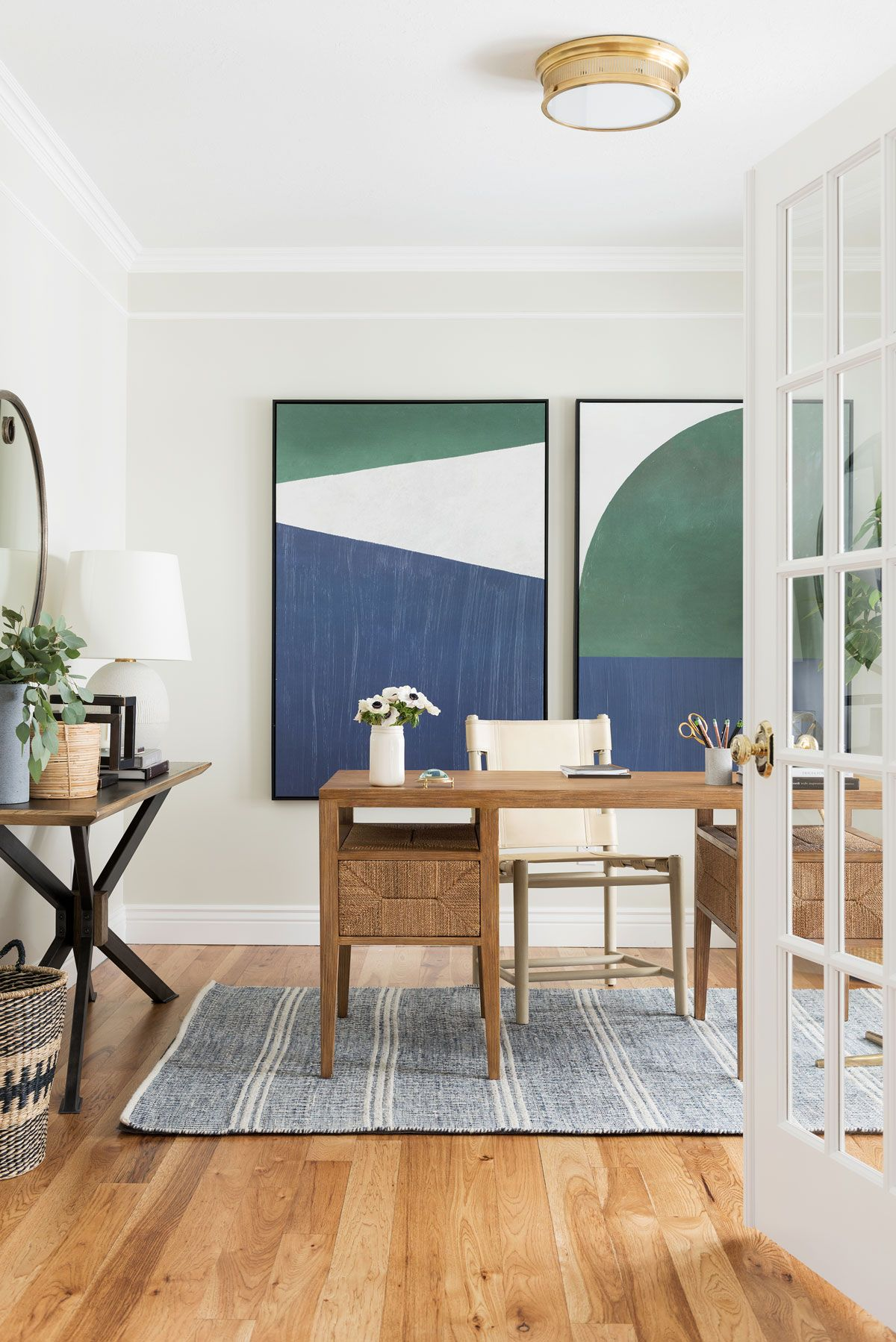 Two Day Transformation Coastal Traditional Office With Images