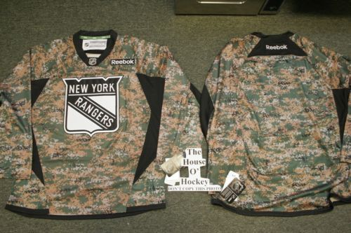 NEW YORK RANGERS CAMO CAMOUFLAGE REEBOK PREMIER NHL HOCKEY JERSEY LARGE NEW  2013. FREE POSTAGE! You can be the first in your area to own this jersey!! 89825ce0529