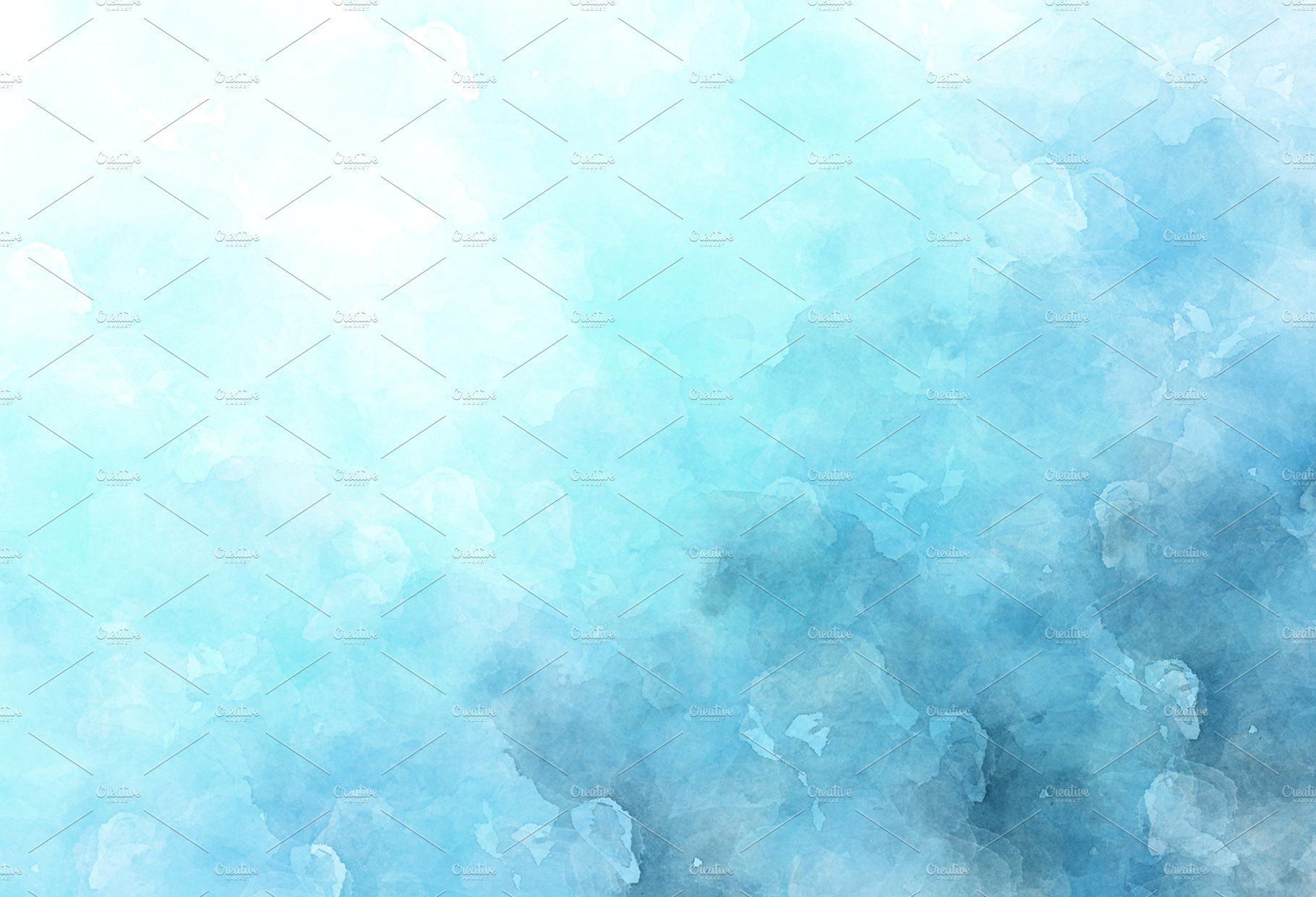 10 Blue Watercolor Backgrounds Cards Posters Display Design