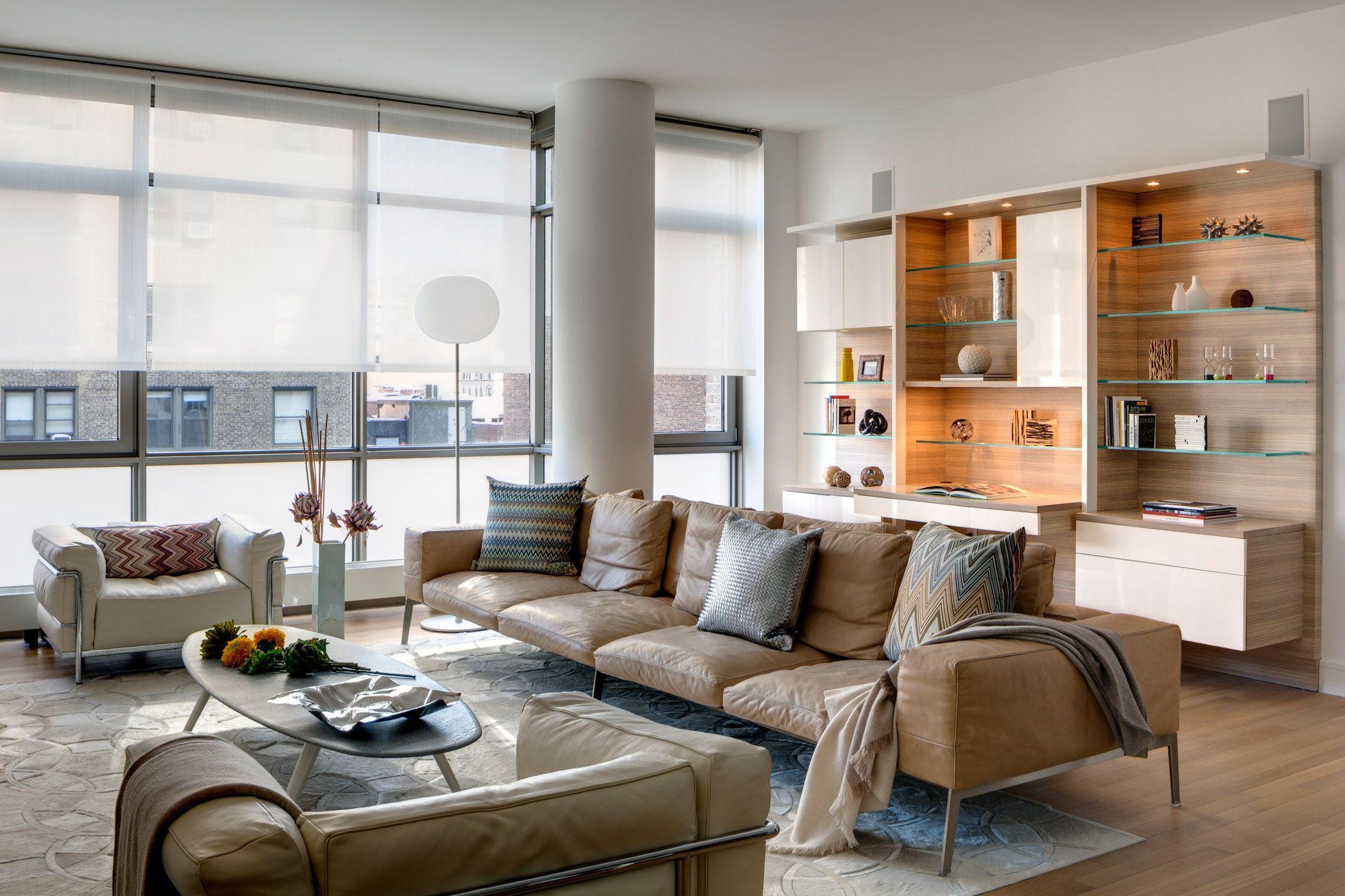 Modern Loft Full Flr Ws Nyc Gut Reno Interior Design Decor