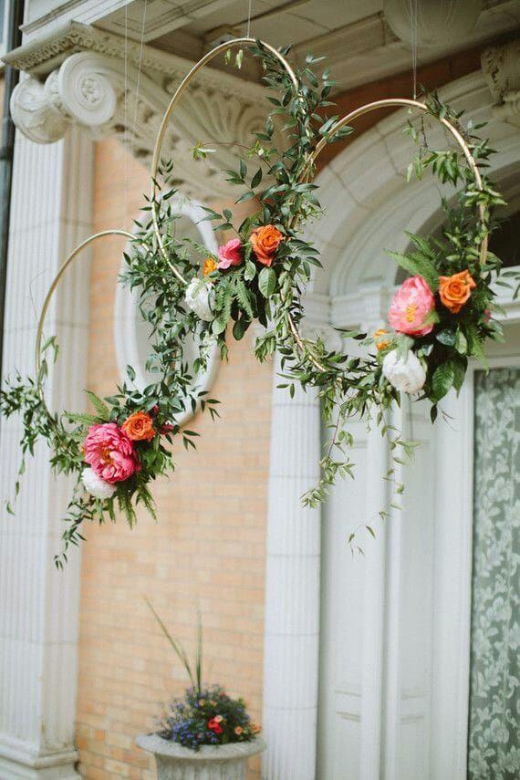 Modern Floral Bridal Shower Or Wedding Decoration Inspiration
