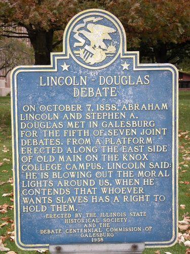 Lincoln Douglas Debate Historical Marker Galesburg