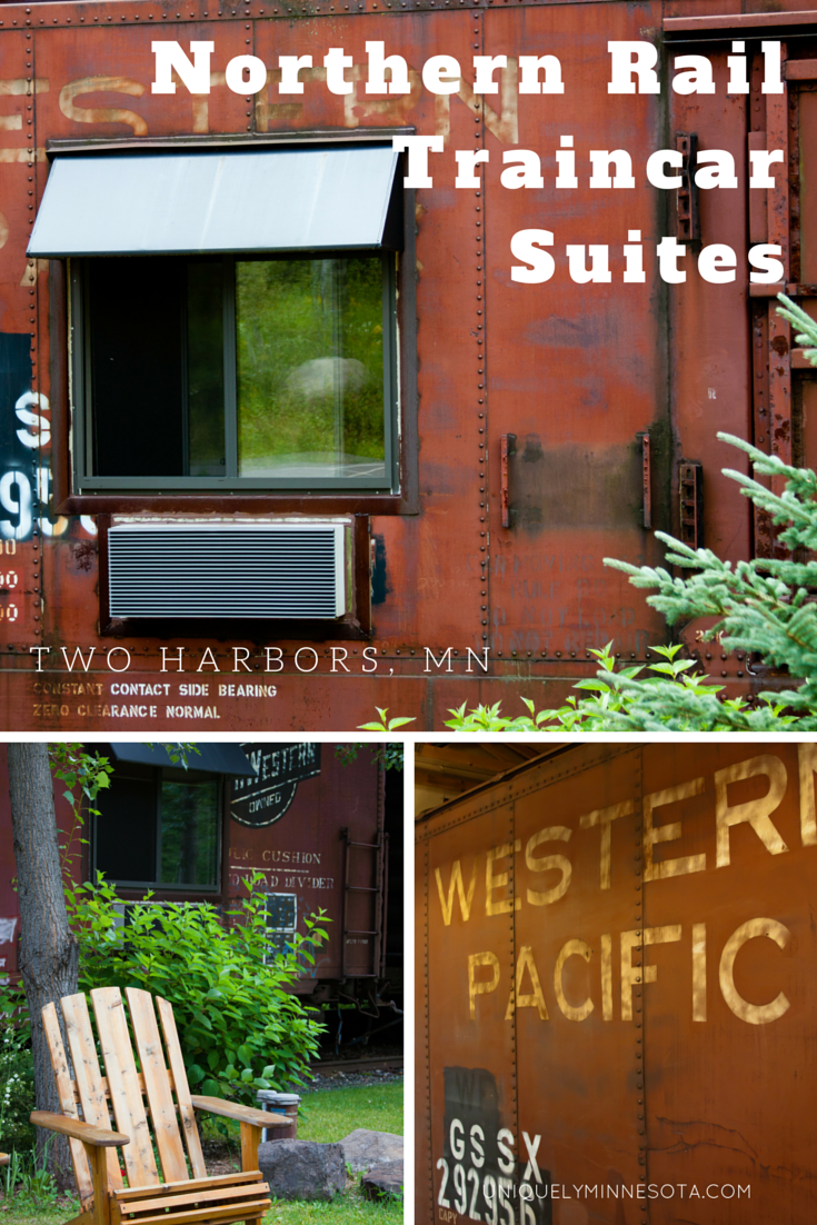 Northern Rail Traincar Suites in Two Harbors, MN. Stay the