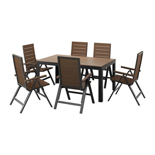 FALSTER Table + 6 Reclining Chairs, Outdoor IKEA Polystyrene Slats Are  Weather Resistant And