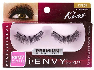 31751754330 Kiss i ENVY 100% Human Eyelash Full Strip Au Naturale 01, KPE08 Hollywood  Lashes