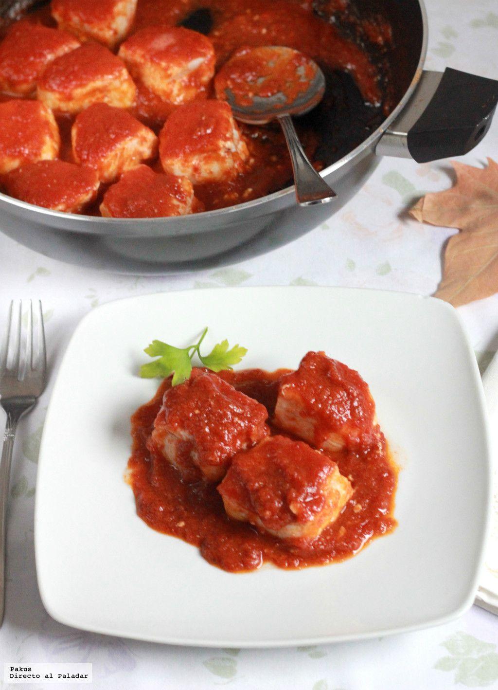Tacos de merluza con tomate. Receta fácil y rápida | Más ideas sobre ...