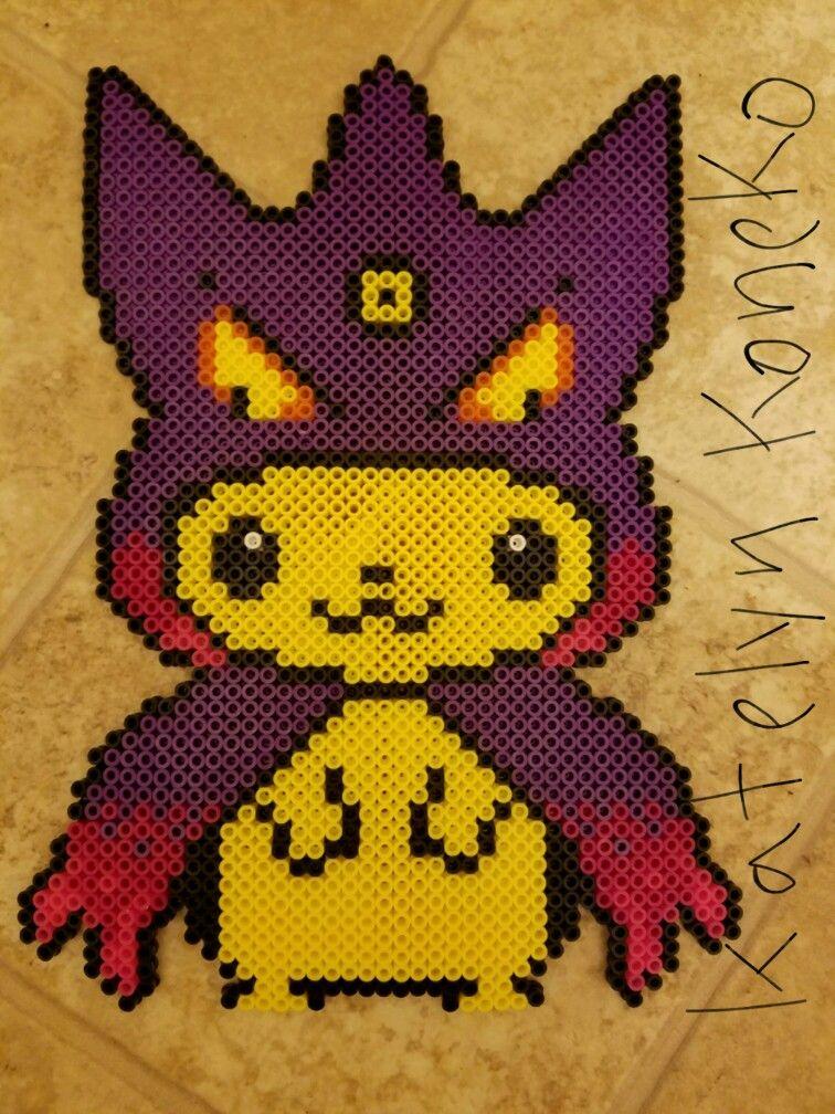 Mega Gengar Pikachu Hoodie Fuse Beads Perler Beads Hama