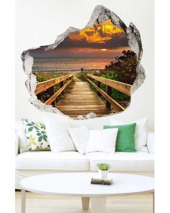 Decorare una parete di casa con gli adesivi murali 3d 20 for Decorare muro stanza