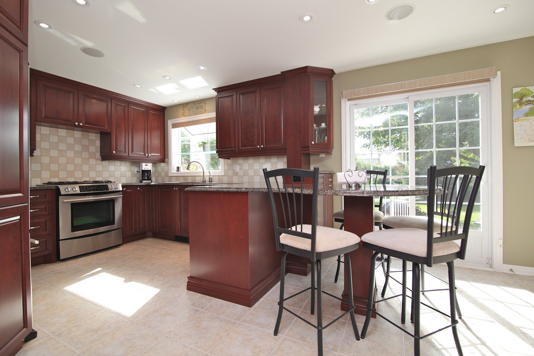 Stunning Kitchen With New Cabinets, Granite Counter Tops & Eating