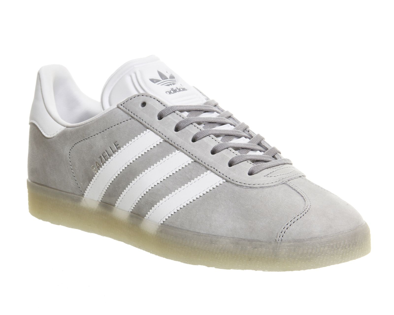 Buy Mid Grey White Ice Adidas Gazelle from OFFICE.co.uk.