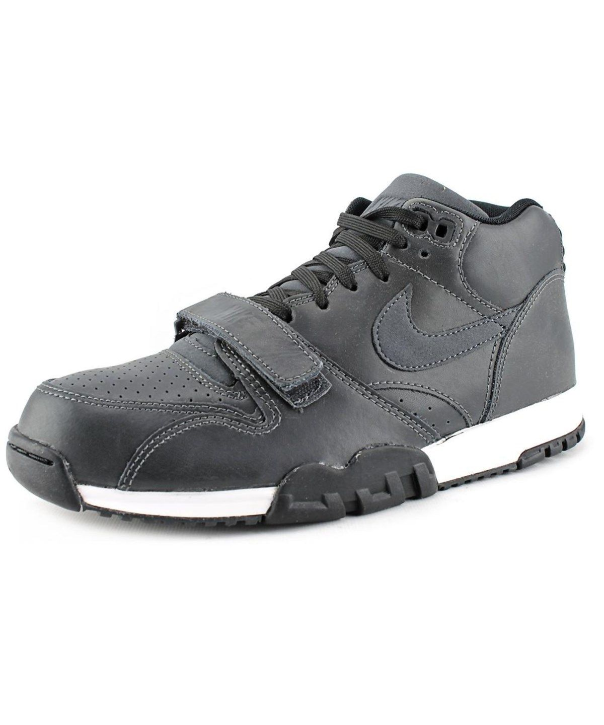 outlet store c2659 8d99f NIKE NIKE AIR TRAINER 1 MID MEN ROUND TOE LEATHER GRAY BASKETBALL SHOE.  nike shoes sneakers