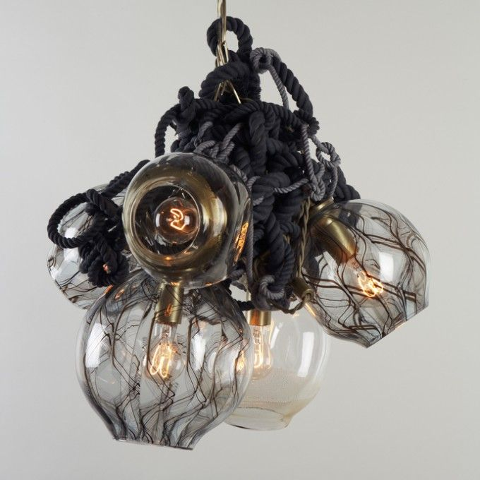 Lindsey adelman interiors lighting pinterest lights studio black rope light fitting by lindsey adelman aloadofball Images