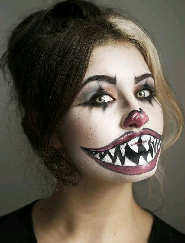 diy halloween makeup tutorial for a freaky clown face - Halloween Angel Makeup Ideas