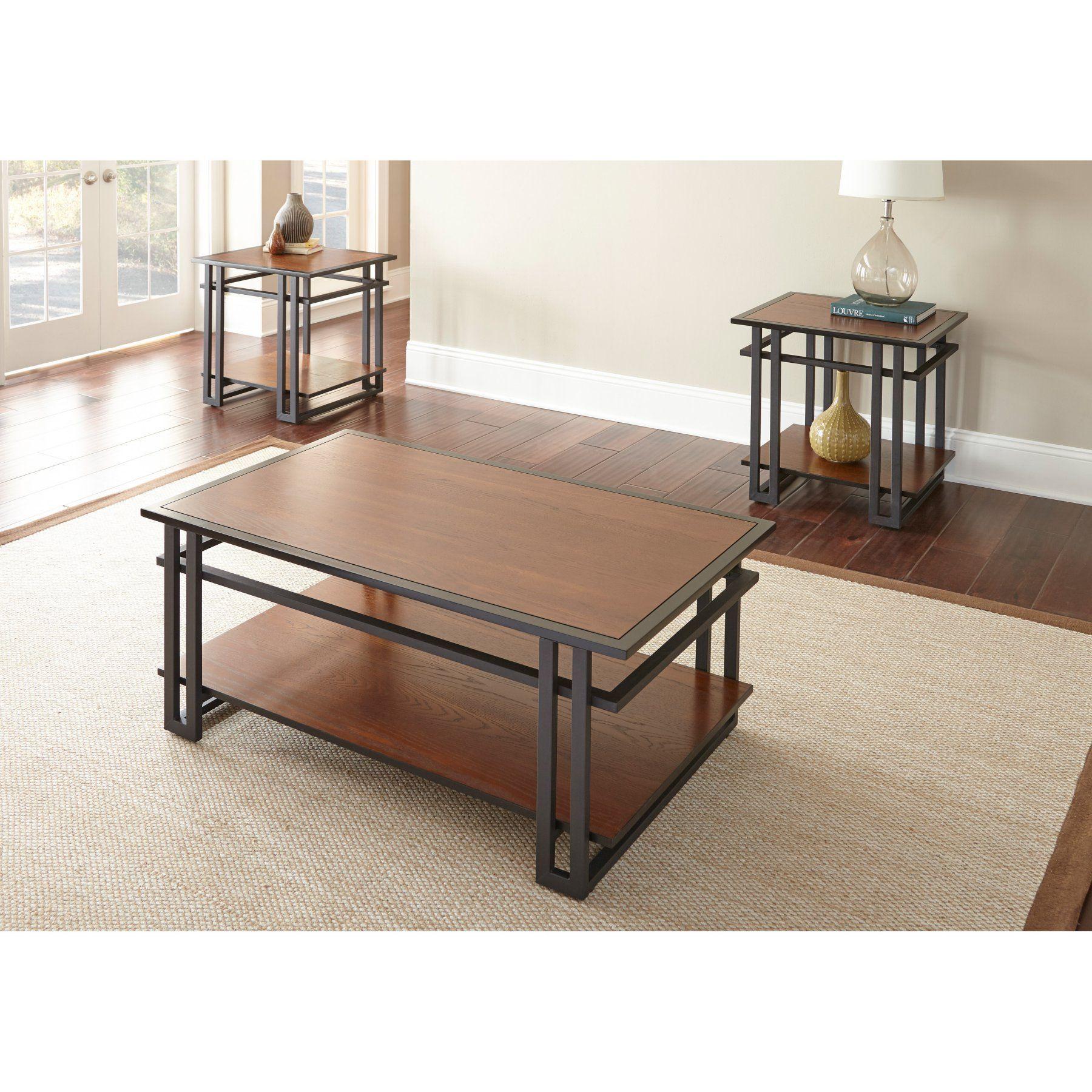 Steve Silver Micah 3 Piece Occasional Table Set Mh2000 Diseno Moderno De Muebles Muebles Hierro Y Madera Muebles [ 1800 x 1800 Pixel ]
