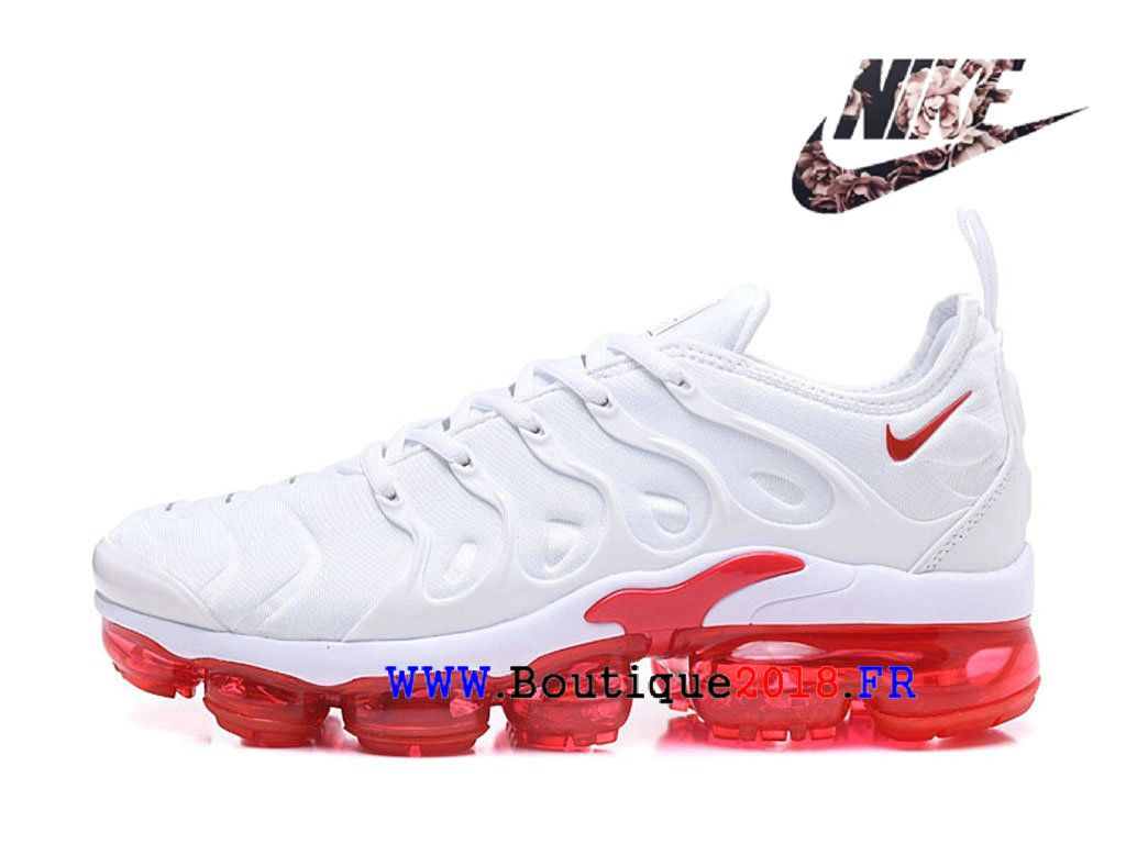 cheaper d3b62 45a6d Nike Air VaporMax Plus Chaussures Nike TN 2018 Pas Cher Pour Cher Homme Blanc  Rouge AO4550-ID9