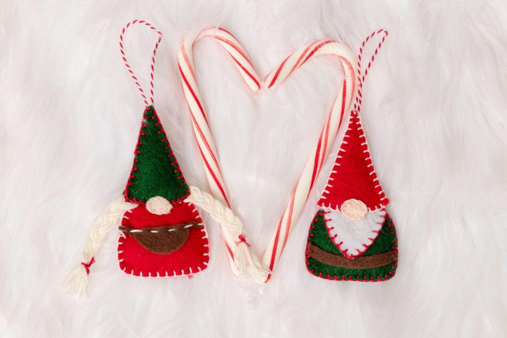 Easy Felt Christmas Ornaments Felt Christmas Ornaments Sewn