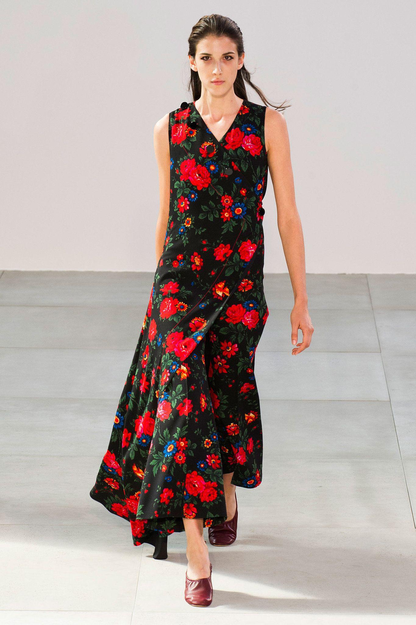Floral Pattern Dress Spring/summer Celine xDluecetCq