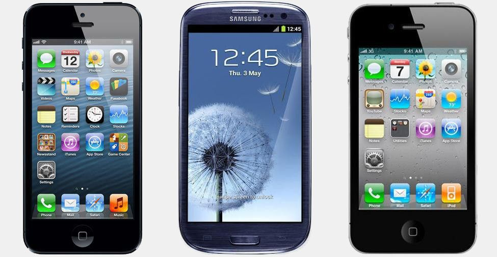 Apple iPhone 5 vs Samsung Galaxy S3 vs Apple iPhone 4S ...