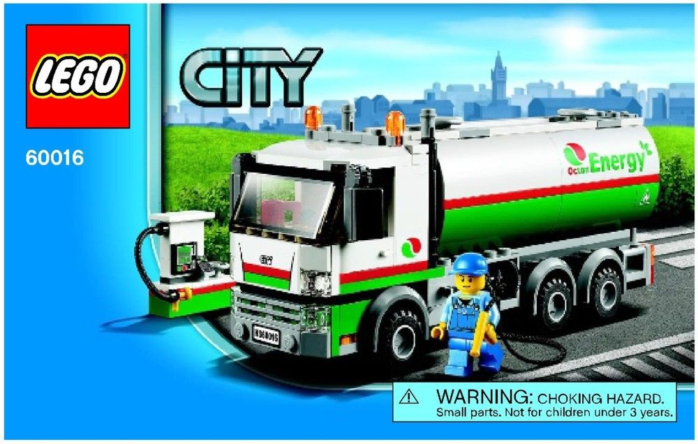 City Tanker Truck Lego 60016 Who Dropped The Lego Pinterest