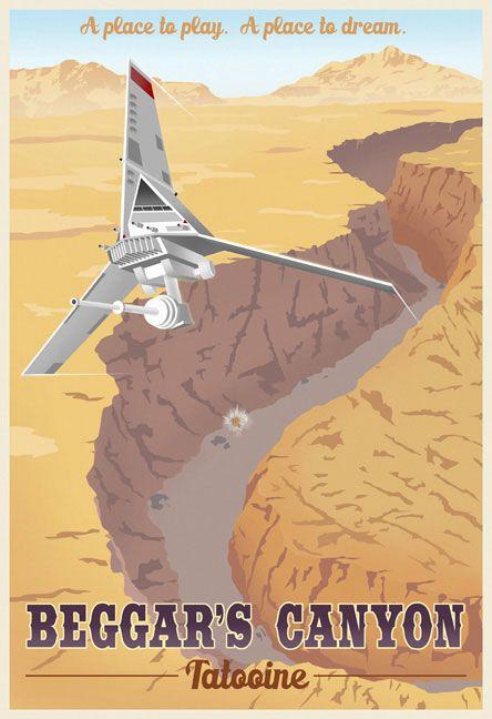 Geek Art Gallery: Posters: Star Wars Travel