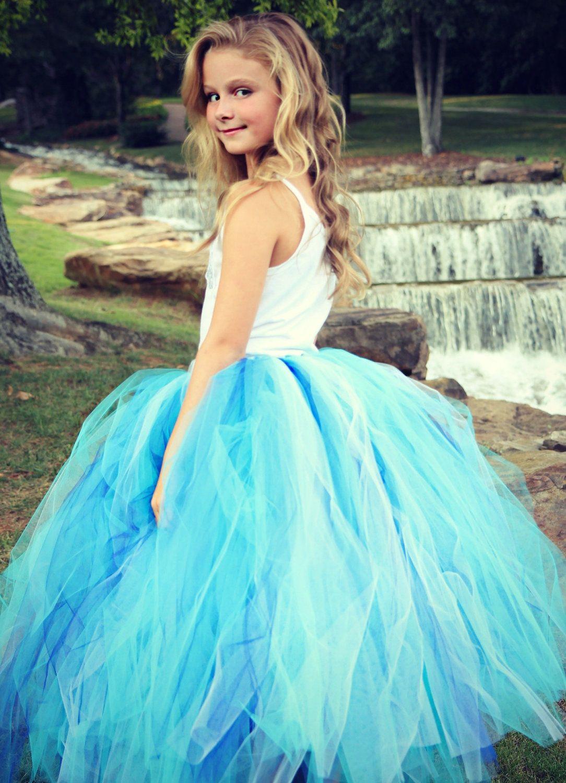 Adult Long Tutu Skirt - MEDIUM to LARGE - Aqua Blue - Wedding ...